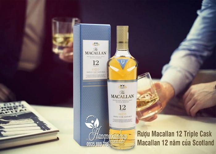 Rượu Macallan 12 Triple Cask, Macallan 12 năm của Scotland 700ml 4