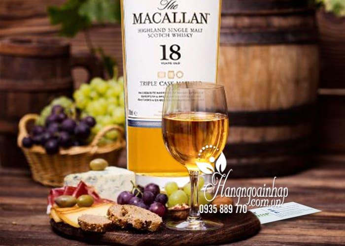 Rượu Macallan 18 Triple Cask Matured 700ml Scotland hảo hạng 3