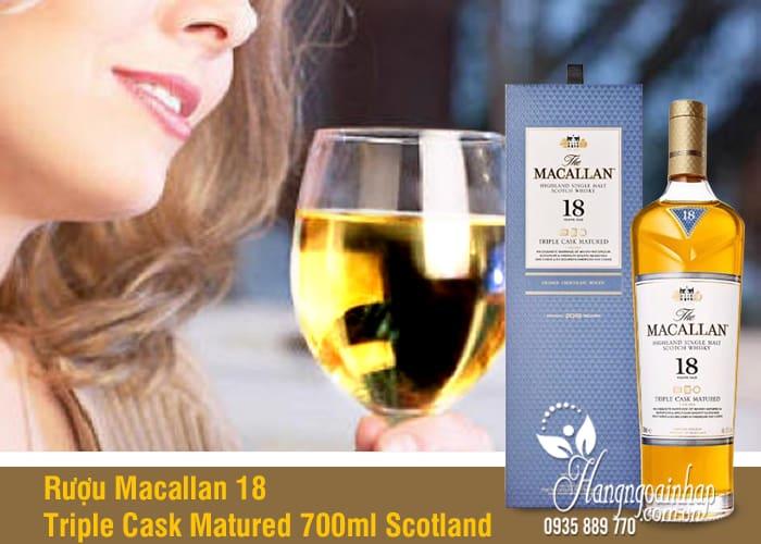Rượu Macallan 18 Triple Cask Matured 700ml Scotland hảo hạng 2