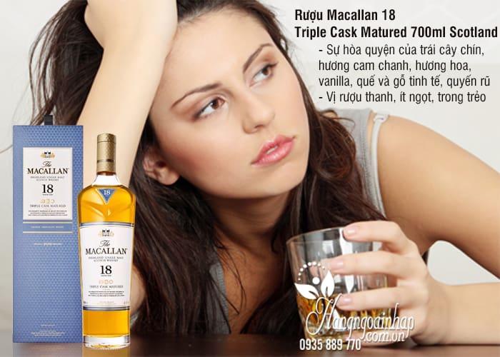 Rượu Macallan 18 Triple Cask Matured 700ml Scotland hảo hạng 1