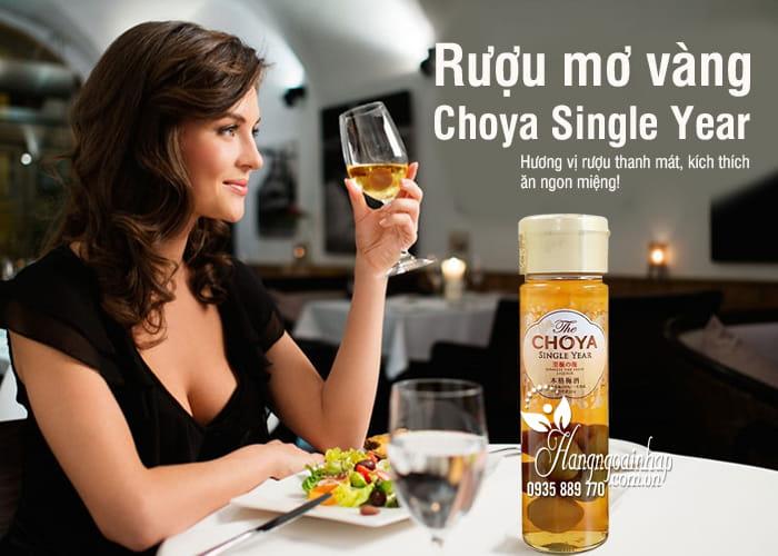 Rượu mơ Choya Single Year Nhật Bản 650ml, mơ vàng 7