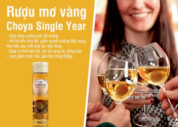 Rượu mơ Choya Single Year Nhật Bản 650ml, mơ vàng 2