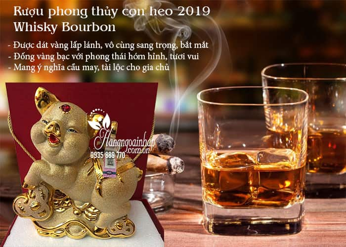 Rượu phong thủy con heo 2019 Whisky Bourbon của Pháp 2
