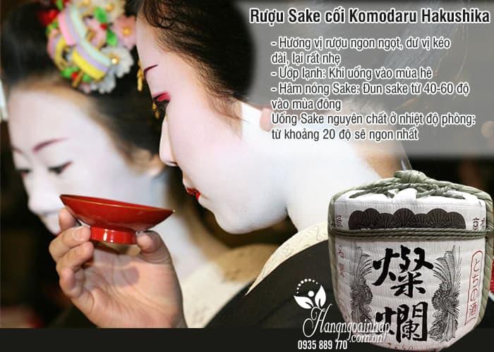 Rượu Sake cối Komodaru Hakushika 1,8 lít của Nhật Bản 3