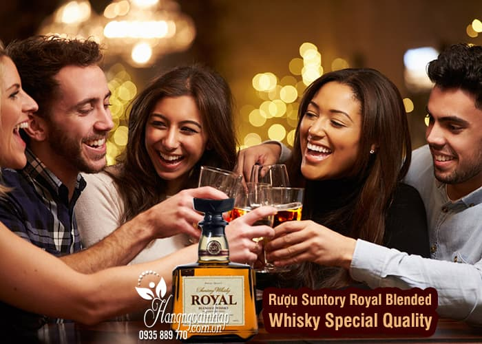Rượu Suntory Royal Blended Whisky Special Quality 700ml 9