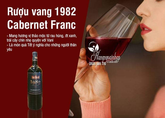 Rượu vang 1982 Cabernet Franc 750ml xách tay Pháp  2