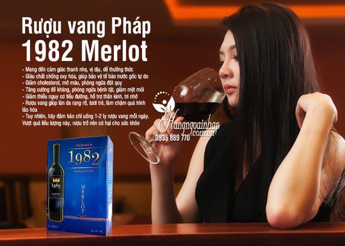 Rượu vang Pháp 1982 Merlot Hộp 3 lít xách tay Pháp chính hãng 7