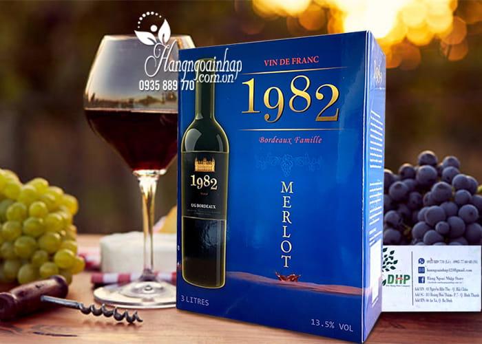 Rượu vang Pháp 1982 Merlot Hộp 3 lít xách tay Pháp chính hãng 1