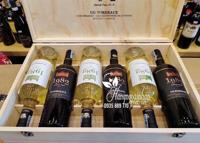 Set 6 chai rượu vang 1982 UG Bordeaux 2018 mix trắng, đỏ 1