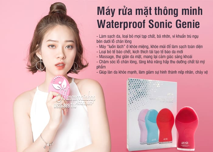 Máy rửa mặt thông minh Waterproof Sonic Genie Hàn Quốc 1
