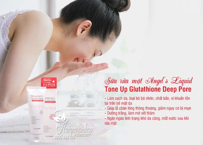 Sữa rửa mặt Angel's Liquid Tone Up Glutathione Deep Pore 6
