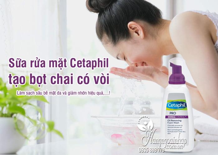 Sữa rửa mặt Cetaphil tạo bọt chai có vòi 237ml Mỹ, 2 loại 2