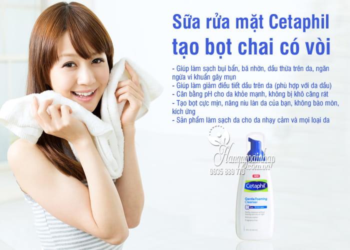 Sữa rửa mặt Cetaphil tạo bọt chai có vòi 237ml Mỹ, 2 loại 1