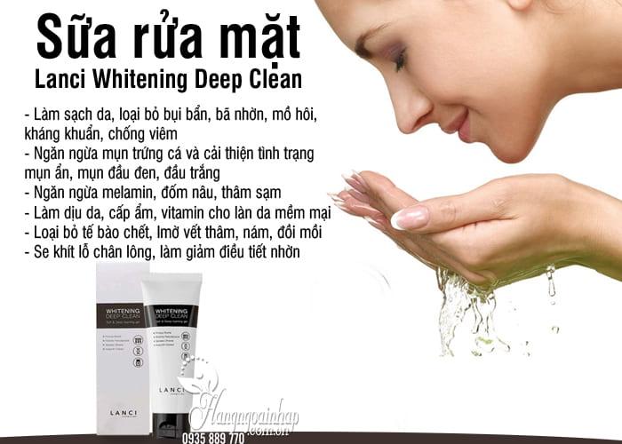 Sữa rửa mặt Lanci Whitening Deep Clean 100ml Hàn Quốc 3
