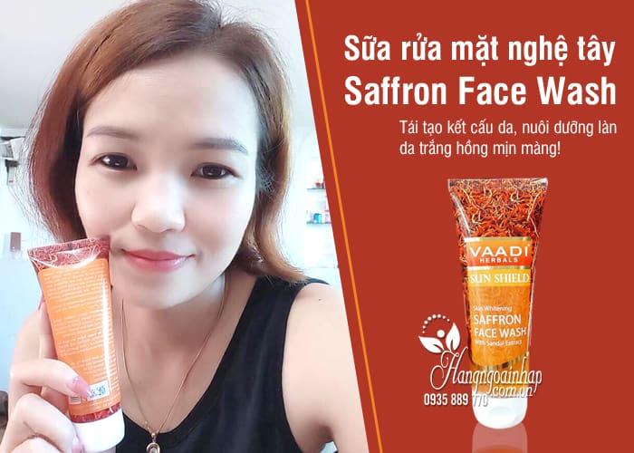 Sữa rửa mặt nghệ tây Saffron Face Wash 60ml trị nám, trắng da 4