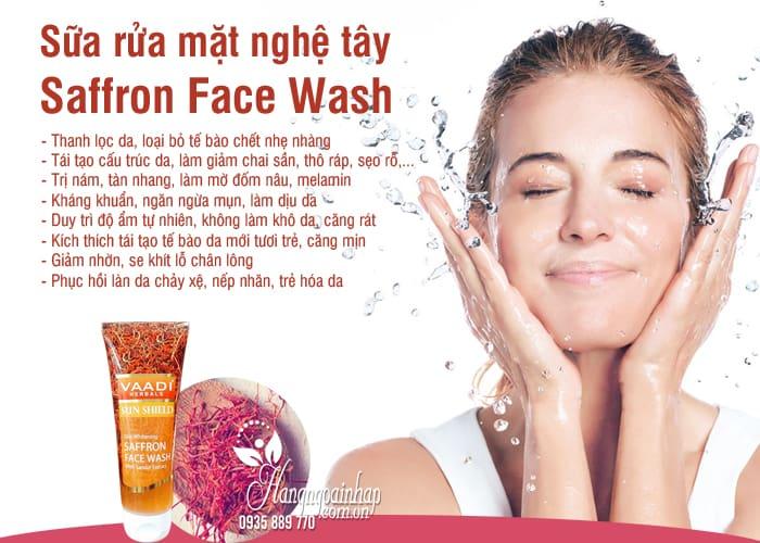 Sữa rửa mặt nghệ tây Saffron Face Wash 60ml trị nám, trắng da 2
