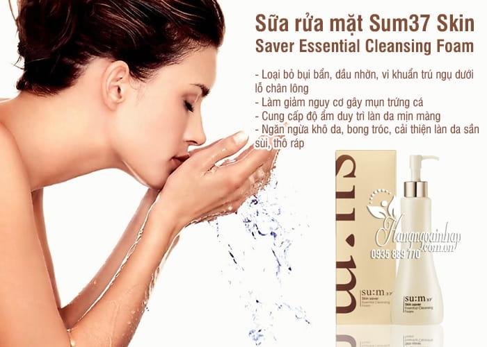 Sữa rửa mặt Su:m37 Skin Saver Essential Cleansing Foam Hàn Quốc 2