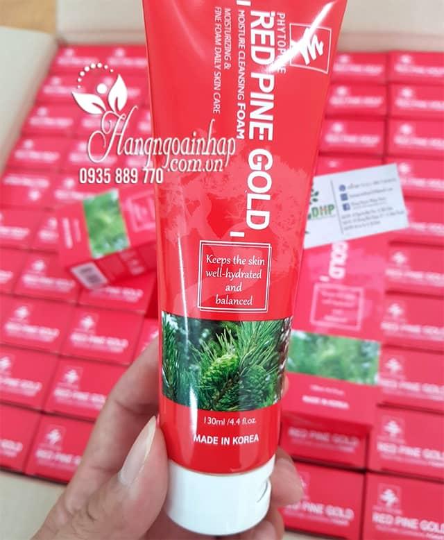 Sữa rửa mặt tinh dầu thông đỏ Red Pine Gold 130ml Hàn Quốc 9