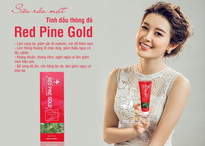 Sữa rửa mặt tinh dầu thông đỏ Red Pine Gold 130ml Hàn Quốc 7