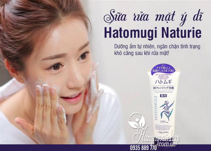 Sữa rửa mặt ý dĩ Hatomugi Naturie 130g của Nhật Bản 1