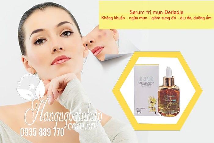 Serum trị mụn Derladie Witch Hazel Perfect Vitamin 35ml 7