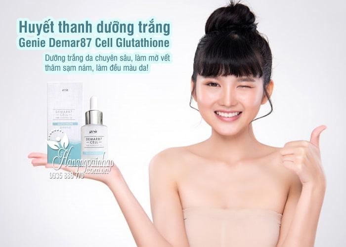 Huyết thanh dưỡng trắng Genie Demar87 Cell Glutathione 33ml 8