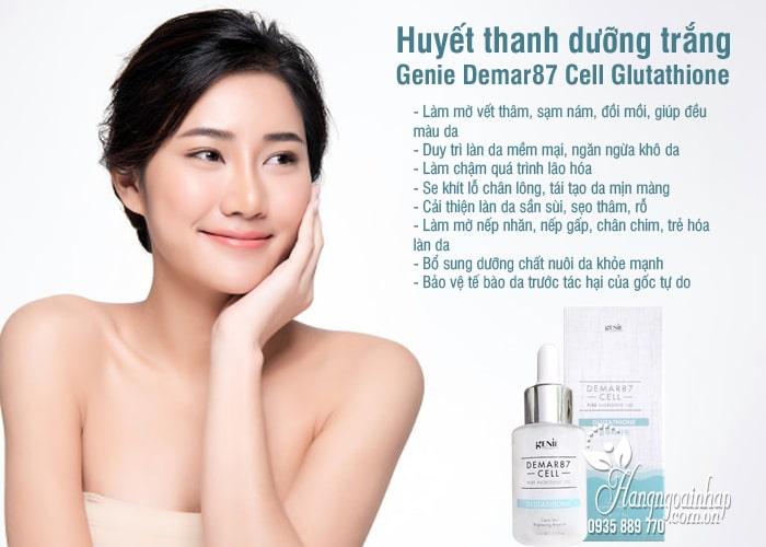 Huyết thanh dưỡng trắng Genie Demar87 Cell Glutathione 33ml 4