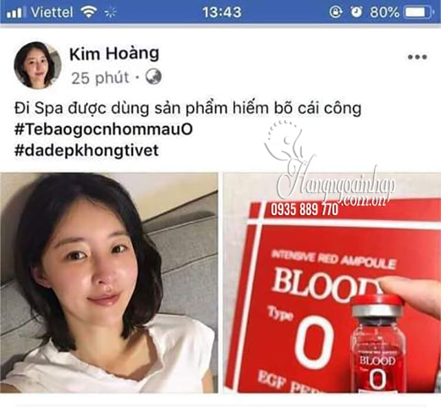 Huyết thanh tiểu cầu Intensive Red Ampoule Blood Type O 15 lọ 3