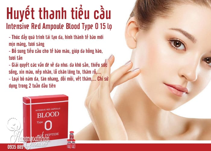 Huyết thanh tiểu cầu Intensive Red Ampoule Blood Type O 15 lọ 5
