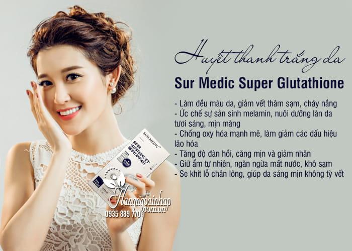 Huyết thanh trắng da Sur Medic Super Glutathione 100 Hàn Quốc 89