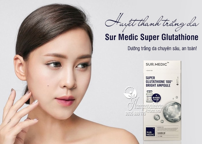 Huyết thanh trắng da Sur Medic Super Glutathione 100 Hàn Quốc 4