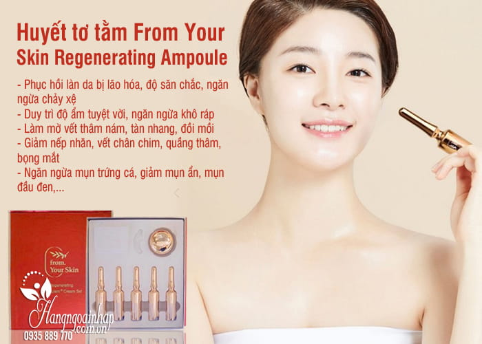 Huyết tơ tằm From Your Skin Regenerating Ampoule + Cream Set 4