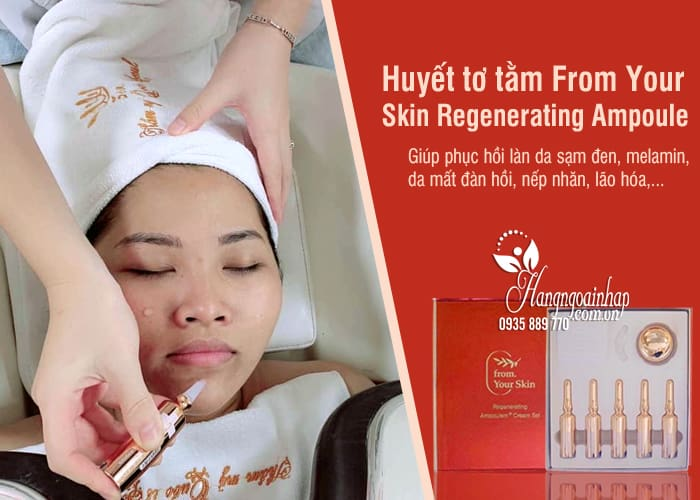 Huyết tơ tằm From Your Skin Regenerating Ampoule + Cream Set 6