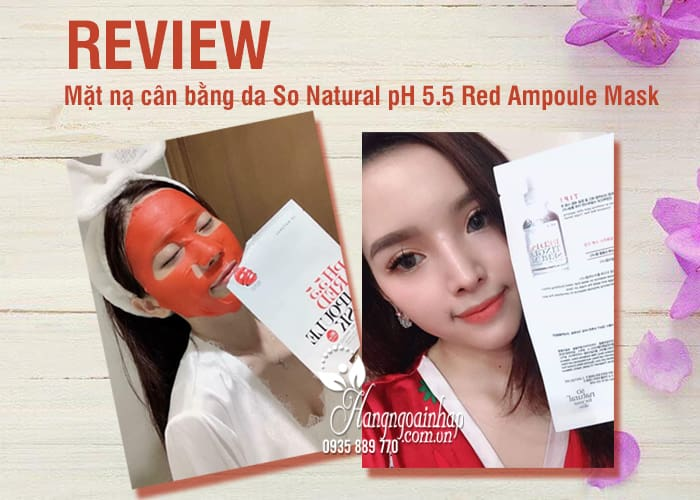 Mặt nạ cân bằng da So Natural pH 5.5 Red Ampoule Mask 5