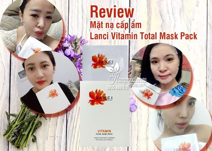 Mặt nạ cấp ẩm Lanci Vitamin Total Mask Pack của Hàn Quốc 78