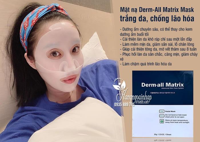 Mặt nạ Derm-All Matrix Mask Hàn Quốc trắng da, chống lão hóa 7