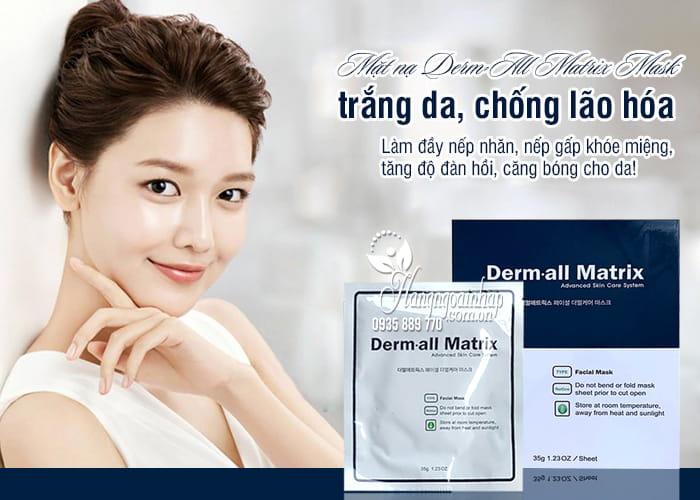 Mặt nạ Derm-All Matrix Mask Hàn Quốc trắng da, chống lão hóa 5