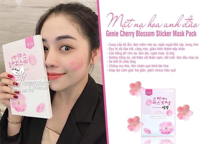Mặt nạ hoa anh đào Genie Cherry Blossom Sticker Mask Pack 2