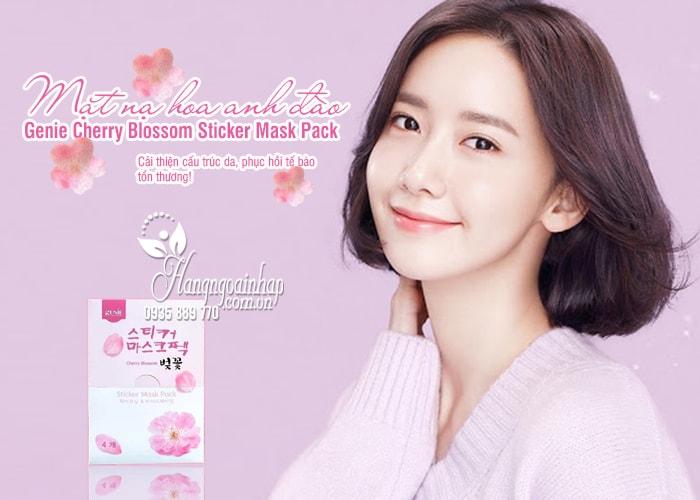 Mặt nạ hoa anh đào Genie Cherry Blossom Sticker Mask Pack 1