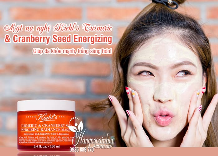 Mặt nạ nghệ Kiehl's Turmeric & Cranberry Seed Energizing 75ml 5