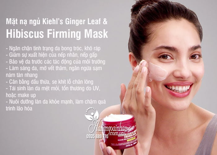 Mặt nạ ngủ Kiehl's Ginger Leaf & Hibiscus Firming Mask 2