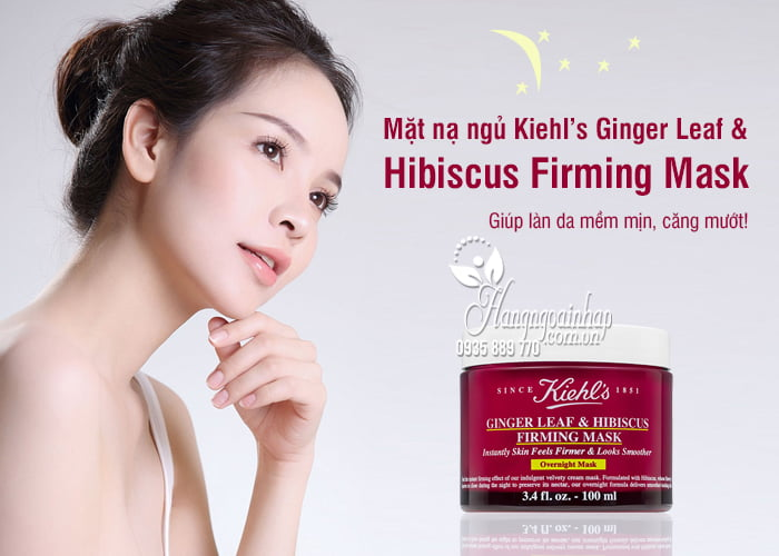 Mặt nạ ngủ Kiehl's Ginger Leaf & Hibiscus Firming Mask 6