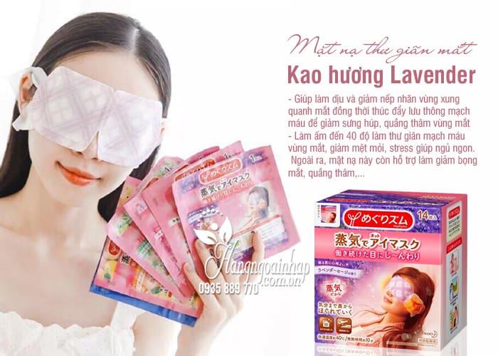 Mặt nạ thư giãn mắt Kao hương Lavender Của Nhật Bản 7