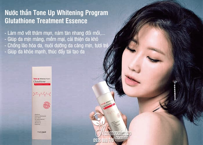 Nước thần Tone Up Whitening Program Glutathione Treatment Essence 1