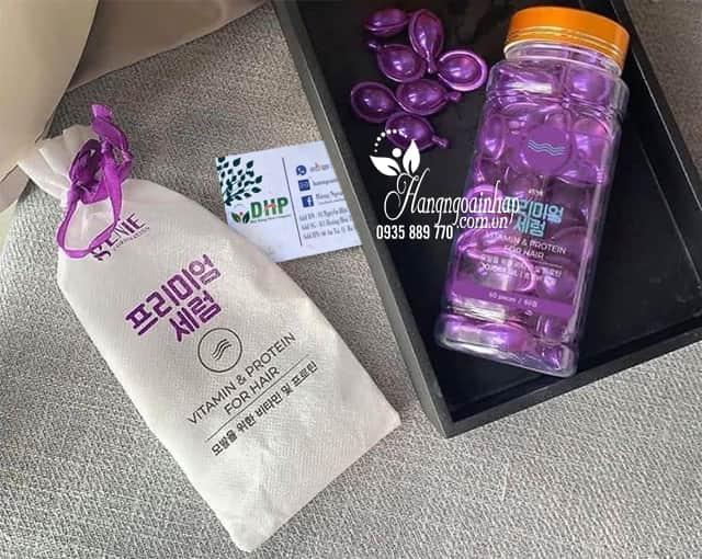 Serum dưỡng phục hồi tóc Genie Vitamin & Protein For Hair 4