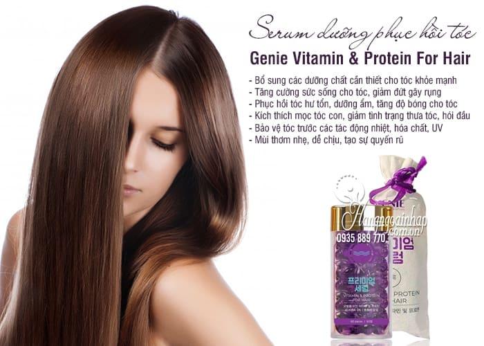Serum dưỡng phục hồi tóc Genie Vitamin & Protein For Hair 2