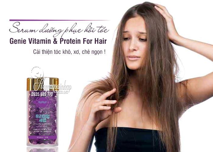 Serum dưỡng phục hồi tóc Genie Vitamin & Protein For Hair 1