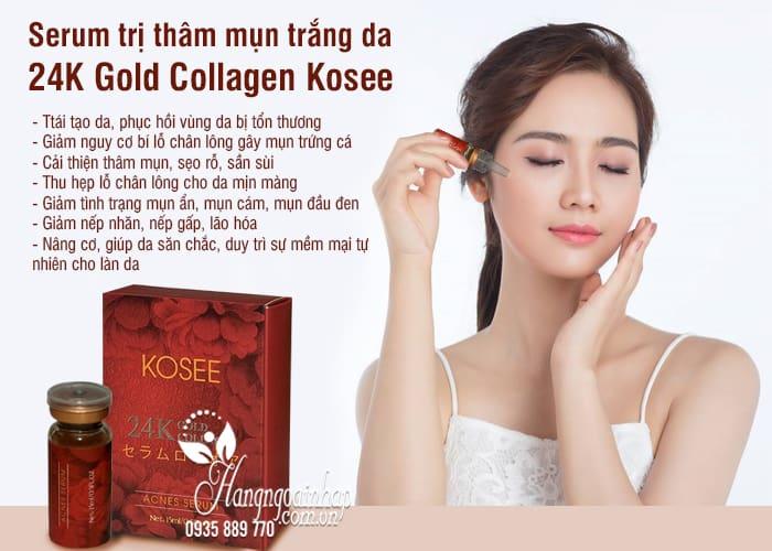 Serum mụn trắng da 24K Gold Collagen Kosee của Nhật Bản 2