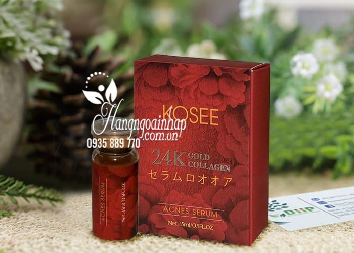 Serum mụn trắng da 24K Gold Collagen Kosee của Nhật Bản 1