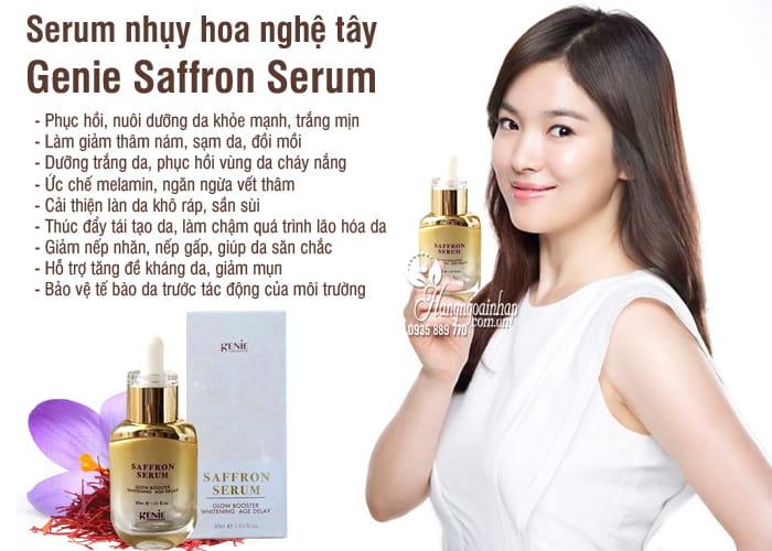 Serum nhụy hoa nghệ tây Genie Saffron Serum 30ml Hàn Quốc 6